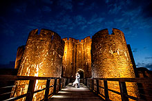 Caerphilly Castle wedding photographer