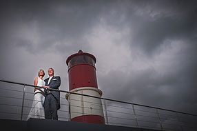 Bride and Groom - Hampshire Wedding at Spitbank Fort (62)