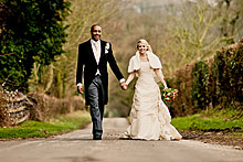 Bride and Groom - Hampshire Wedding at Tithe Barn (24)