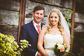 Bride and Groom - Hampshire Wedding at Tithe Barn (6)