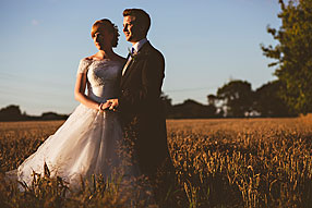 Bride and Groom - Hampshire Wedding at Tithe Barn (3)