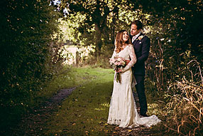 Bride and Groom - Hampshire Wedding at Tithe Barn (7)