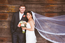 Bride and Groom - Hampshire Wedding at Tithe Barn (5)