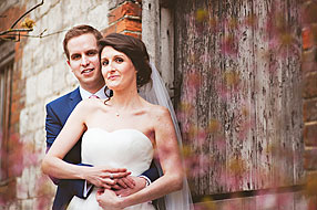 Laura and Jon at Bury Court Barn