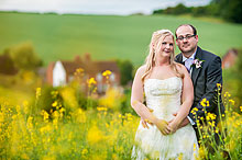Hayley and Russell at Bury Court Barn