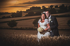 Samantha and Nigel at Bury Court Barn