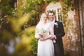 Gemma and Nick at Bury Court Barn