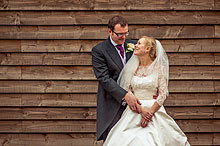 Rebecca and Iain at Bury Court Barn