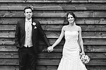 Joni and Matt at Bury Court Barn