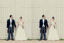 Sonia and Cokey at Bury Court Barn