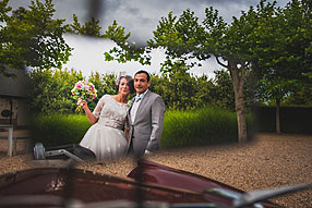 Maria and Ulises at Bury Court Barn