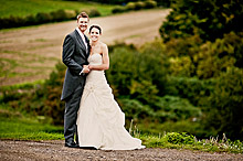 Kat and Rich at Bury Court Barn