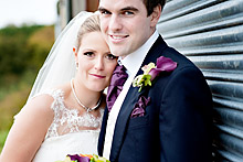 Georgina and Jon at Bury Court Barn