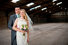 Jo and Richard at Bury Court Barn