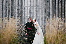 Kate and David at Bury Court Barn