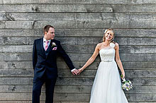 Lucy and Jud at Bury Court Barn