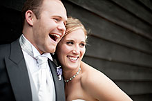 Bride and Groom - Surrey Wedding at Gate Street Barn (14)