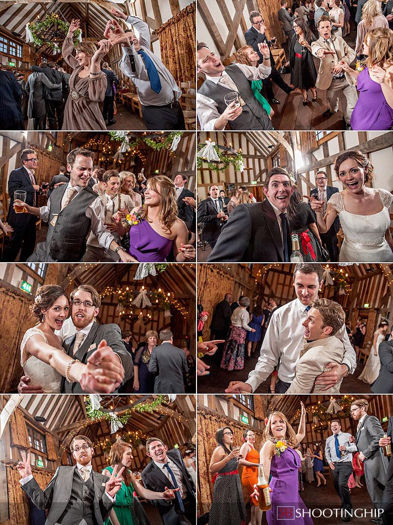 guests dancing at a wedding at gate street barn