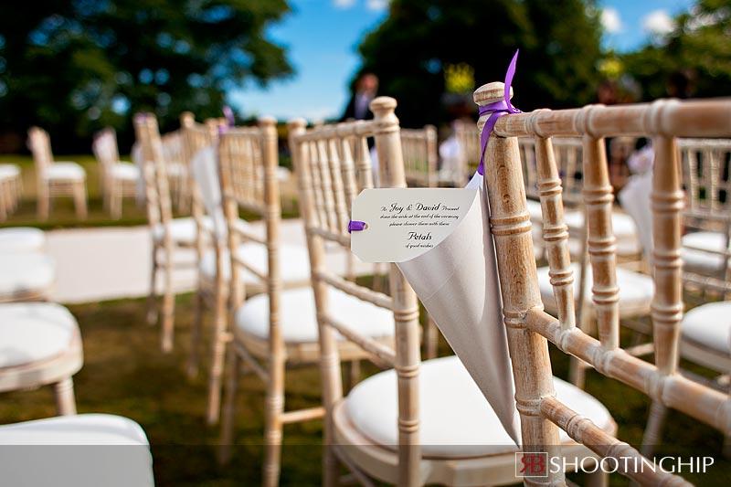 Outdoor wedding ceremony at The Elvetham