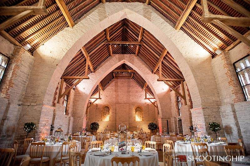 Interior photograph of the Tithe Barn Ditcham
