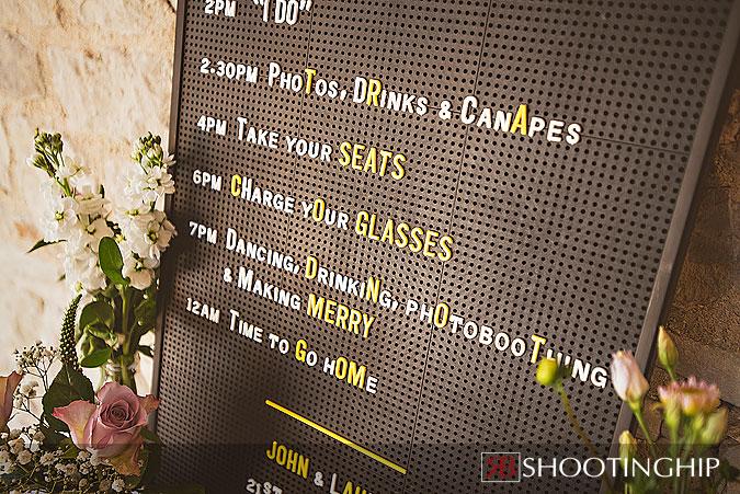 Wedding Ideas of Sandwich Board Order of the Day (2)