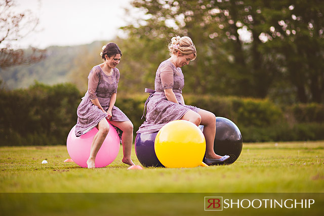 space hopper at a wedding