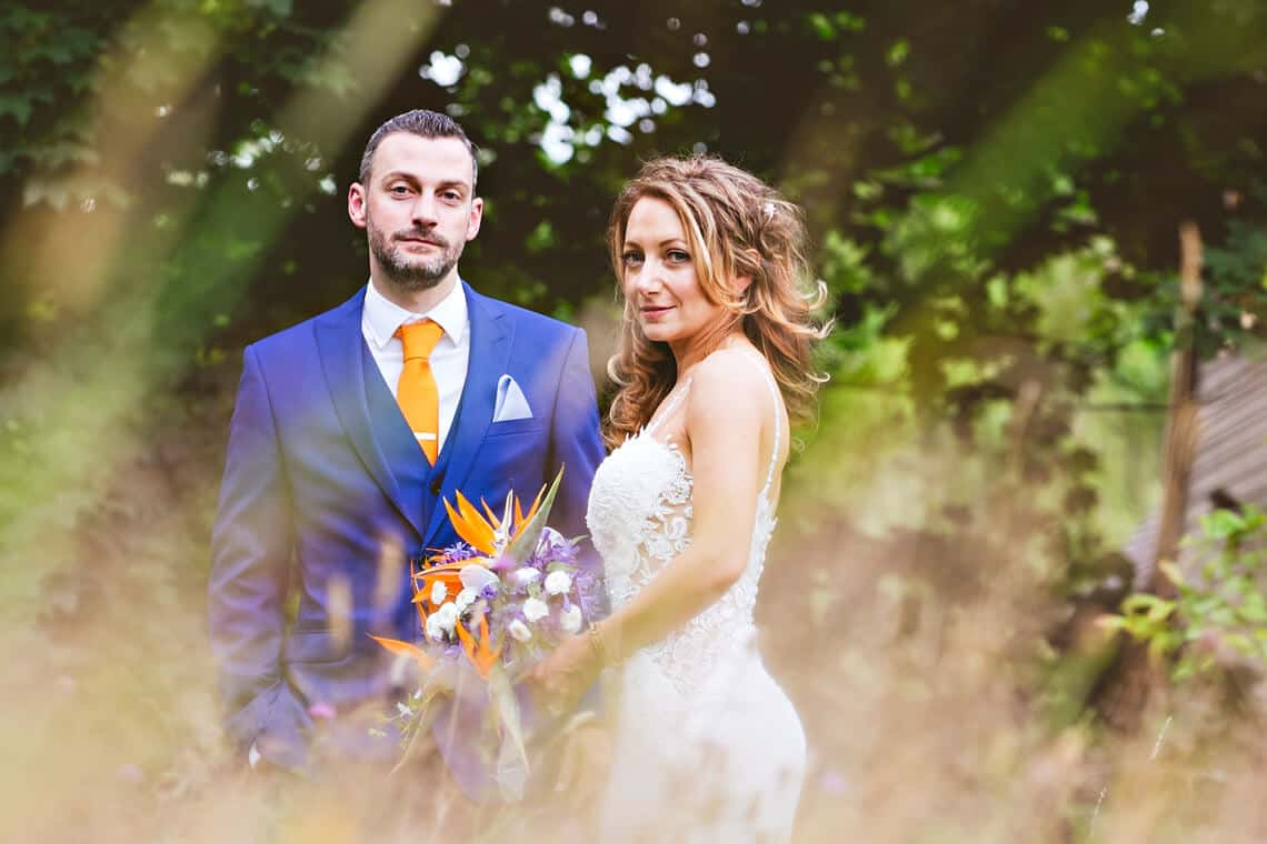 Wedding couple at Ramster in Surrey