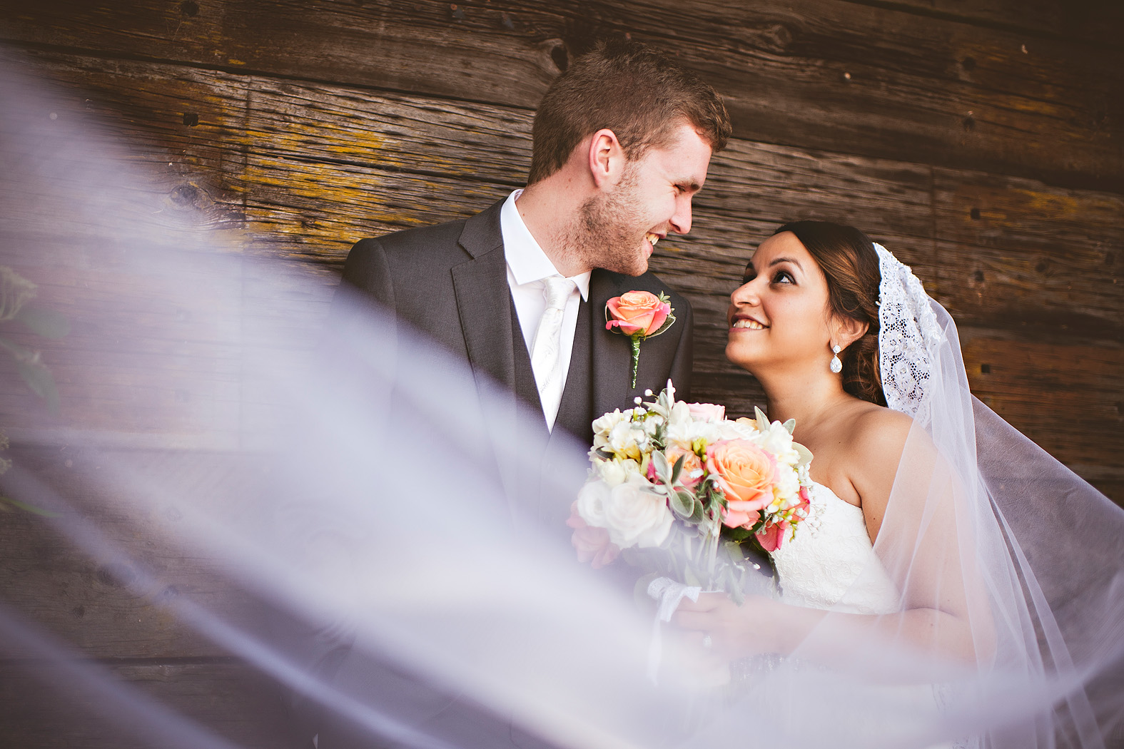 multicultural wedding at tithe barn