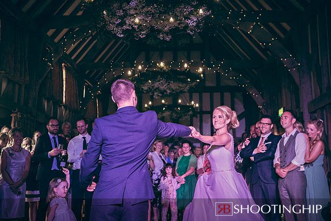 Bride and Groom Dancing at Gate Street Barn