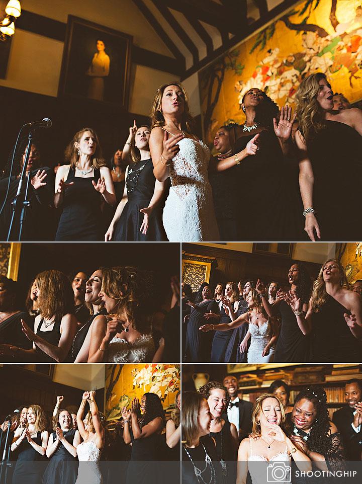 Bride singing at Ramster