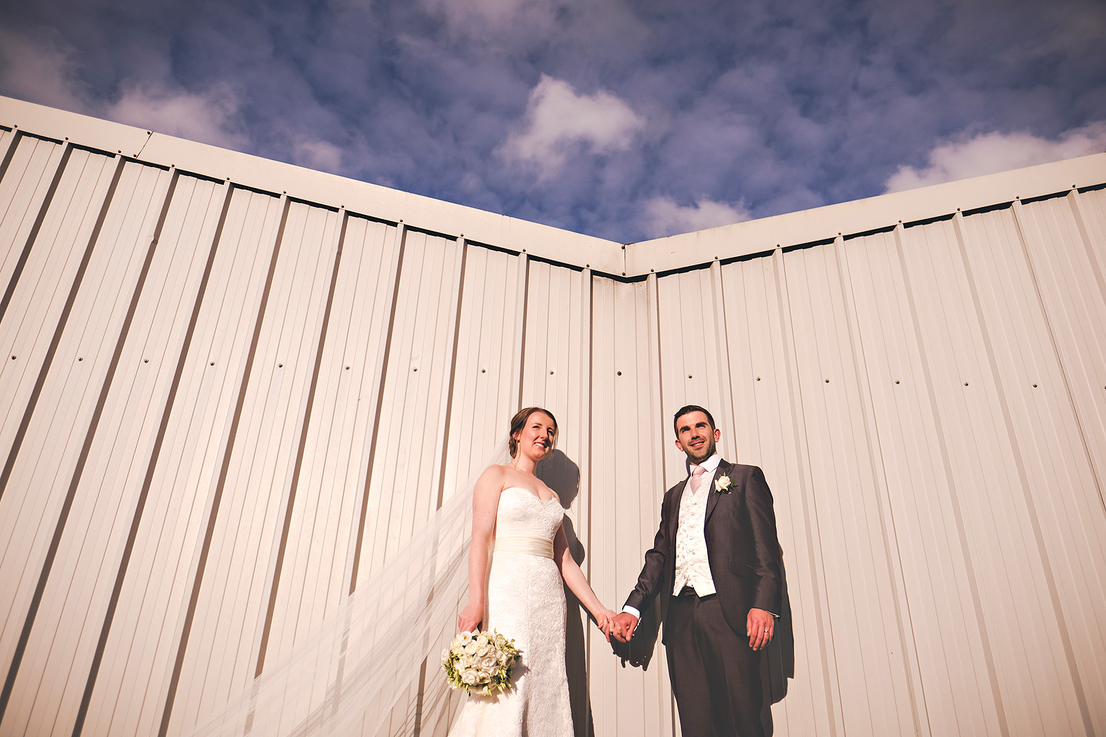Sarah and James at Tithe Barn