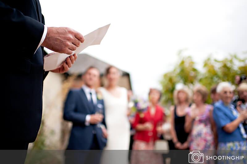 Hampshire Wedding Speeches Outside (2)