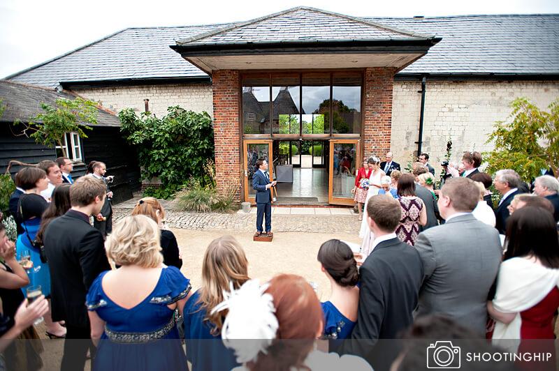 Hampshire Wedding Speeches Outside (5)