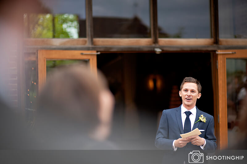 Hampshire Wedding Speeches Outside (6)