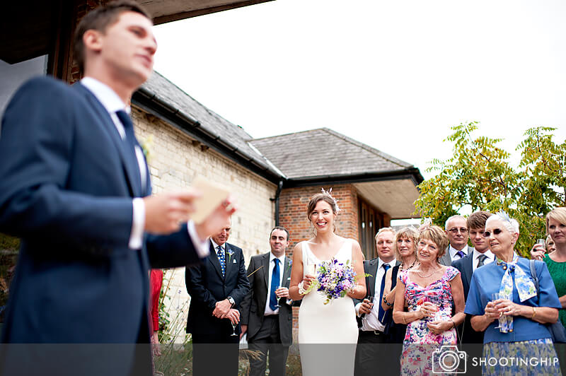 Hampshire Wedding Speeches Outside (7)