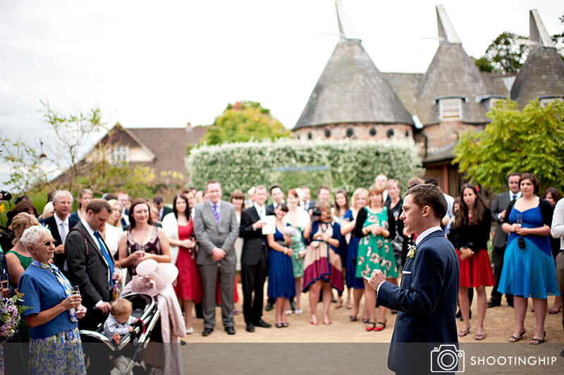 Hampshire Wedding Speeches Outside (9)