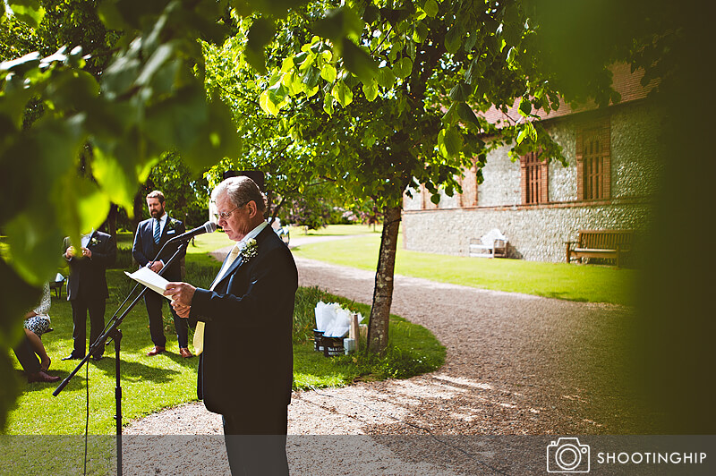 Hampshire Wedding Speeches Outside (37)