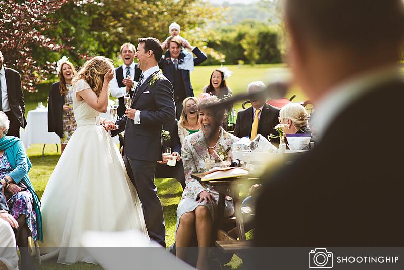 Hampshire Wedding Speeches Outside (38)