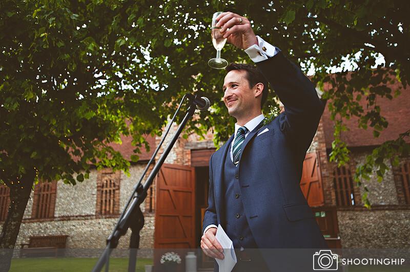 Hampshire Wedding Speeches Outside (44)