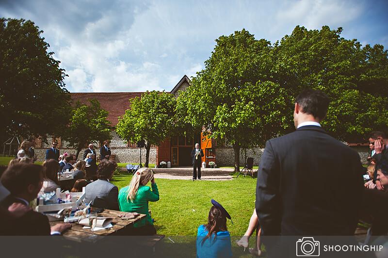 Hampshire Wedding Speeches Outside (48)