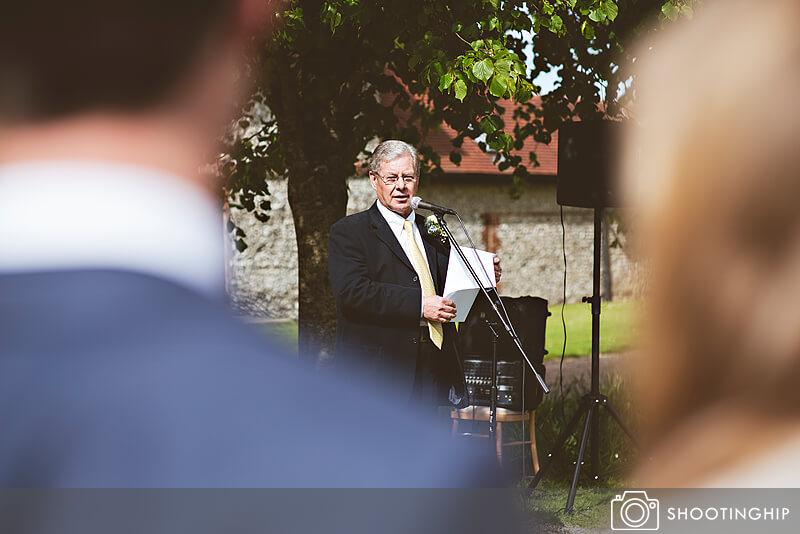 Hampshire Wedding Speeches Outside (49)
