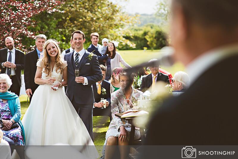 Hampshire Wedding Speeches Outside (50)