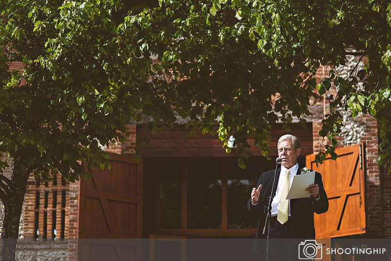 Hampshire Wedding Speeches Outside (52)