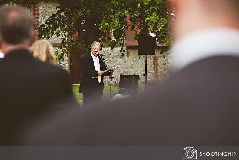 Hampshire Wedding Speeches Outside (54)