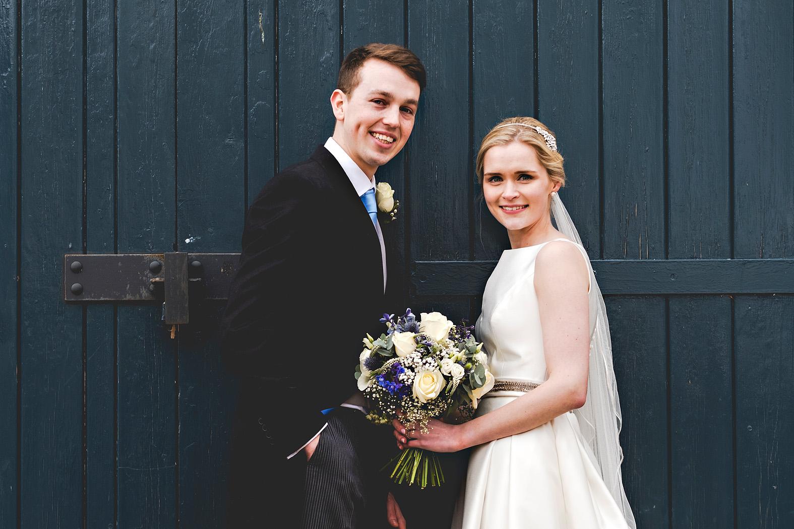 Harriet and Joshua at Bury Court Barn
