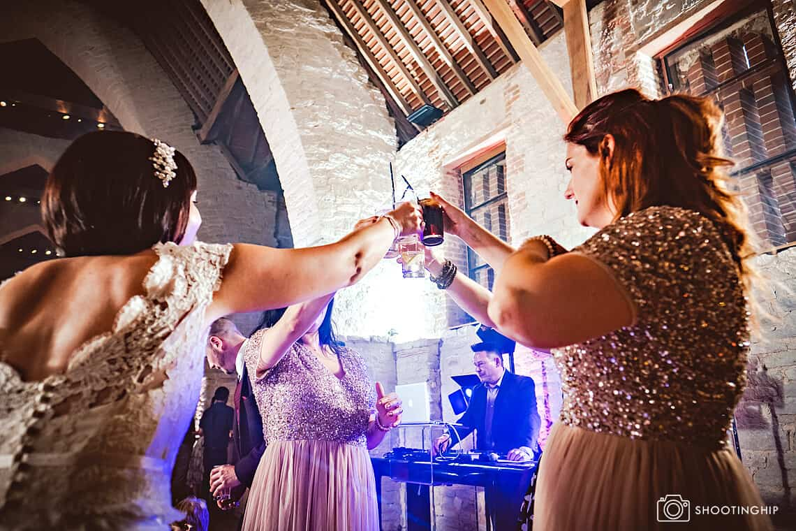 Emily and Adam at Tithe Barn