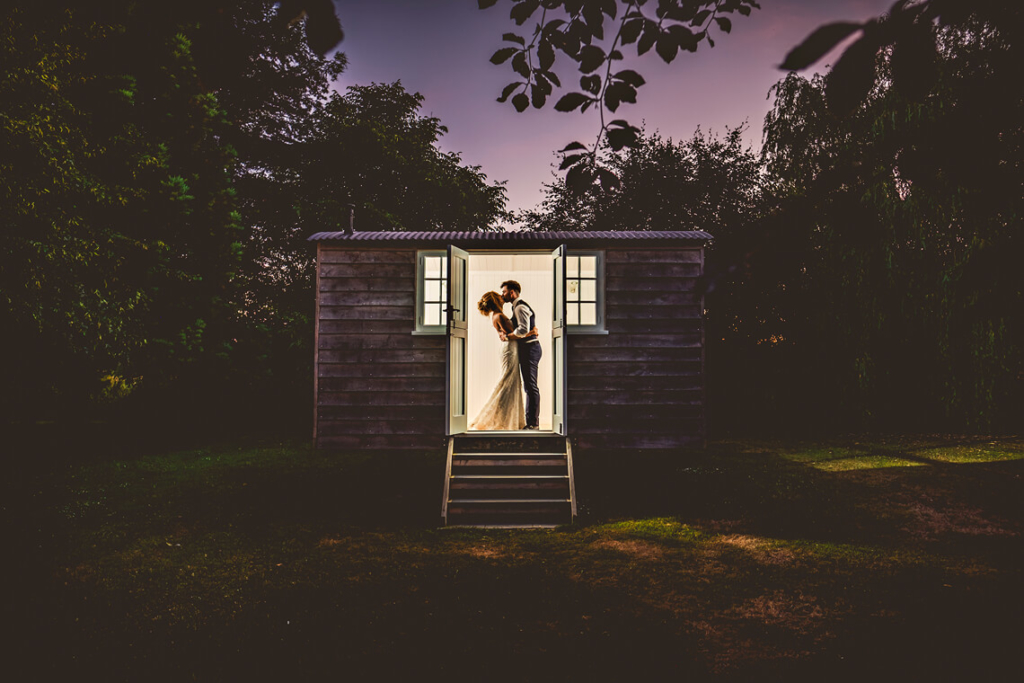 wedding couple at Tithe Barn Hampshire