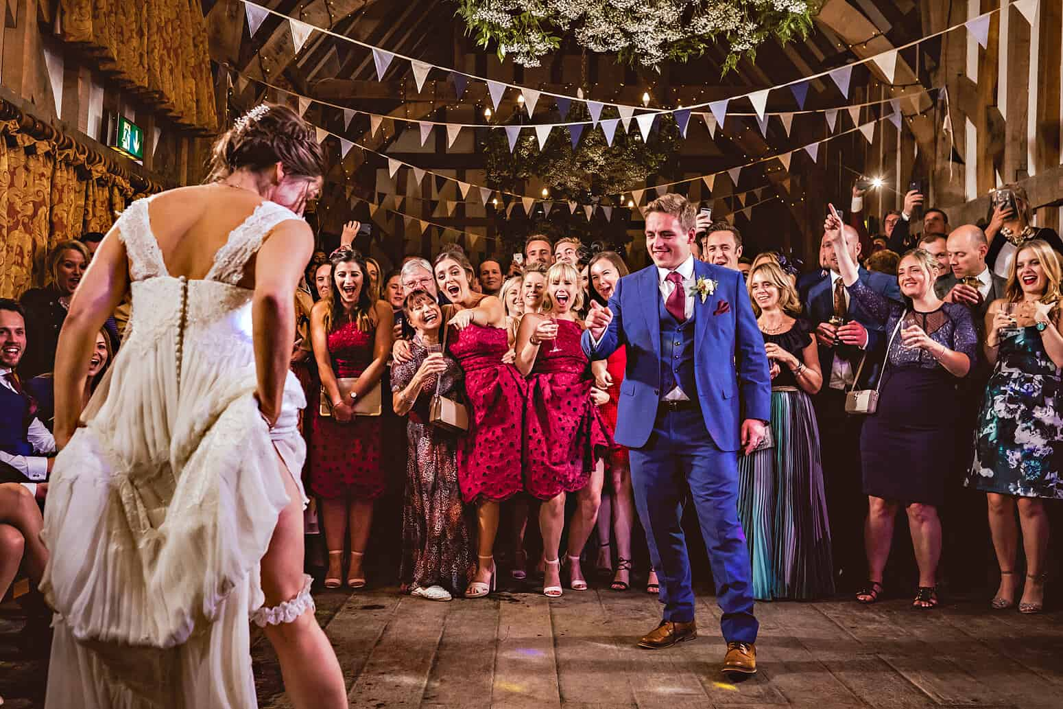 Bride and Groom dance at Gate Street Barn