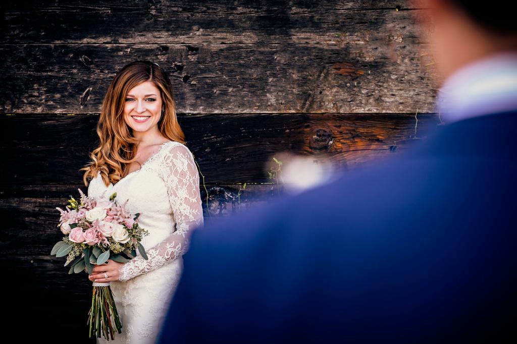 Rustic wedding image at Tithe Barn